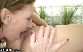 Cute Teen Enjoys Pool Age With The GILF Next Door