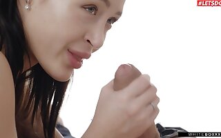 Amazing lovemaking round desirable brunette cosset Kris De Foxx