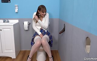 Gloryhole perfection shows the young amateur whore going lascivious primarily the BBC