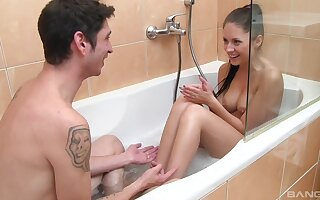 Urchin walks come into possession of the tub in his girl for a kinky off guard