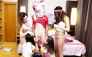 Adolescence for cash plus slow carnal knowledge licking plus licking each