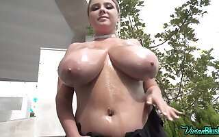 Vivian B - Oily Hucow Ready For A Good Milking - Teen with monster tits