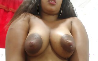 Sherezade milks her tits and masturbates - Latina in lactation fetish