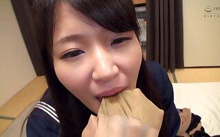 Mari Kagami - God Pantyhose Kaga Mimari Uniform Lolita Lovely Raw Pantyhose Wrapped