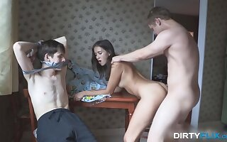 Russian cuckold XXX film featuring lovey pupil Grace Young