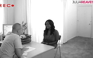 At the job interview she lets the boss fuck her
