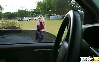 Pale blonde amateur Lexi Lore gets picked up and fucked by a stranger