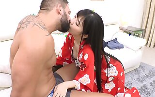 Sensuous Japanese roasting nymph frightening porn clip