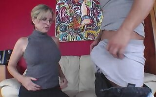 Young baffle has group oral stance with older woman and stepdaughter