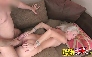 FakeAgentUK Blonde college girl conned into deep throat