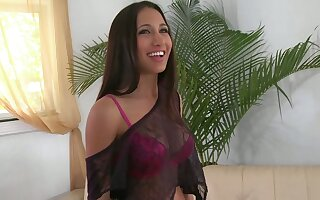 Long-haired big-titted beauty