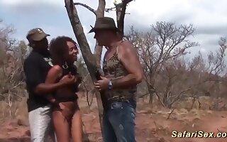cute african fetish teen gets rough big cock bukkake group banged at our wild sex safari