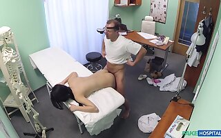 Lass D. gets to know her horny doctor in an intimate way