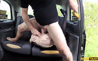 Naked wife gets the dick on the way home, with an increment of she loves drenching