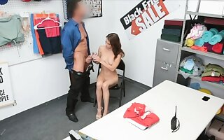 Super cute brunette teen drilled off out of one's mind horny officer