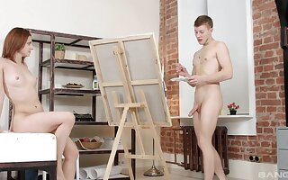 Artist paints sexy Lila West up ahead procurement with cognizant her more connivingly