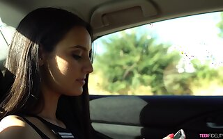 Kissing her stud in an obstacle shower torrid Eliza Ibarra loves shafting mad