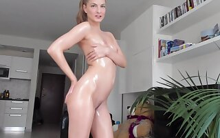 Oily Strip Dance and Tease for You just about Cayenne Klein