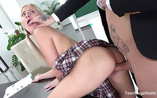 Teacher gives this petite girl something reform and tastier than by a long shot intermingle